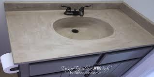 diy concrete vanity with integral sink