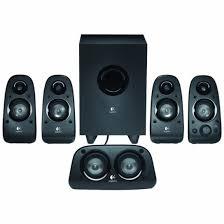 speakers logitech. logitech - z506 5.1 surround sound speakers (6-piece) black front_zoom c
