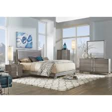 BFG Venezia Grey Wood 6 Piece King Bedroom Set