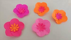 Paper Flower Video Easy Paper Flowers Diy Video Diy Inspired