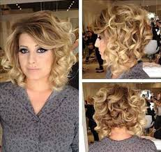 short thick blonde curly hairstyle