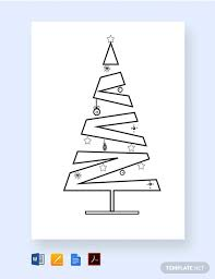 Free Christmas Tree Template Free Layered Christmas Tree Template Download 1182 Cards In