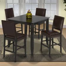 new classic style 19 pub height table and upholstered chairs item number 04