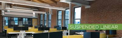 Suspended linear lighting Office Suspended Linear Light Fixtures Acuity Brands Suspended Linear Led Lighting Take Three Lighting