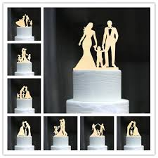 Family Style Rustic Wood Wedding Cake Topper Bride And Groom Cake