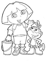 Free Coloring Pages Dora Wonderful The Explorer Coloring Pages Free