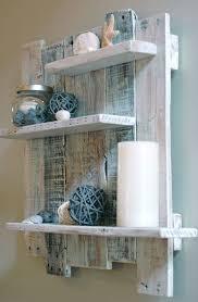 white pallet wood shelf wall decor