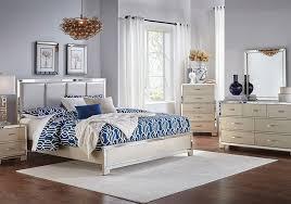 Marilyn Champagne 5 PC Queen Bedroom   Bedroom Sets   Queen bedroom ...