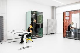 pods office. The Boxes Are Available In Four Sizes: One-person, Two/three-person, Four-person And Six-person. Each One Is Equipped With LED Lighting, A Ventilation Pods Office
