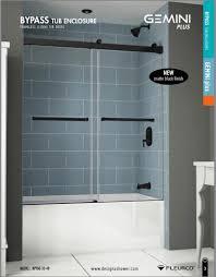 frameless sliding shower doors tub. Fleurco Gemini Plus Bypass Frameless In-Line Sliding Shower Doors Tub Enclosure With 3/ E