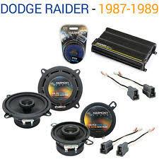 1989 dodge raider dodge raider 1987 1989 factory speaker upgrade harmony r5 r35 cx300 4 amp