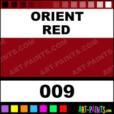 Orient Red Basicacryl Acrylic Paints 009 Orient Red