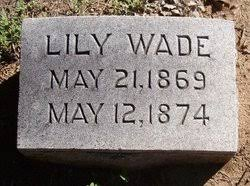 Lily Wade (1869-1874) - Find A Grave Memorial