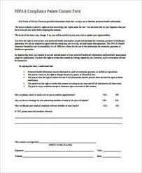 Hipaa Consent Forms Fascinating 44 HIPAA Consent Form Samples Sample Templates