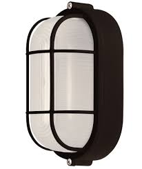 Canarm IOLBK Flush Mount Light Lantern Oval Bulkhead Marine - Flush mount exterior light fixtures