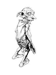 Online Coloring Pages Coloring Page Dobby Harry Potter Download