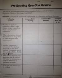 Active Reading Night Chapters 6 Through 9 Chart Answers