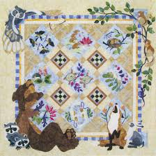 Animal Quilt Patterns Impressive Java House Quilts Forest Galorest Bear Owl Animal 48Pattern BOM