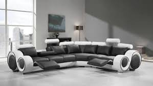 leather sectional sofas. Exellent Sectional Image Is Loading VIGDivaniCasa4087BlackWhiteBondedLeather With Leather Sectional Sofas A