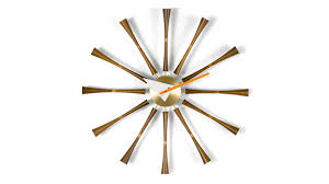 ... Fascinating Nelson Wall Clock George Nelson Clock Reproduction Gold  Metal Star Clock: nelson ...