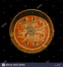 a plate representing the planet venus ceramics classic  ceramics classic recent era 600 900 c e from museo regional de antropologia of the canton palace merida yucatan