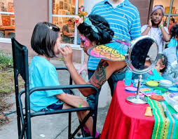face painting by alexa imagine circus raleigh nc