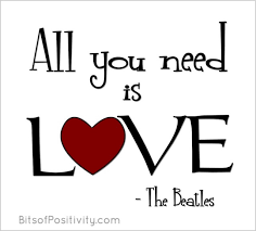 Beatles Love Quotes Classy All You Need Is Love WordArt Freebie