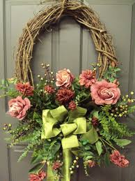 spring wreath for front doorfront door wreaths with initials and front door wreaths etsy