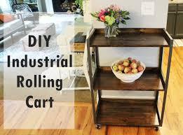 diy industrial rolling cart jpg
