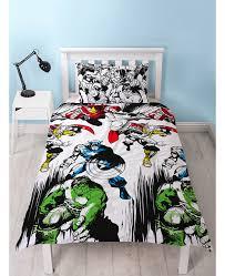 marvel comics crop single duvet cover bedding set