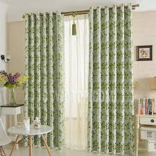 decorative leaf pattern thick insulated polyester blackout curtains panels