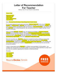 teacher letter of recommendation student and teacher recommendation letter samples 4 templates rg