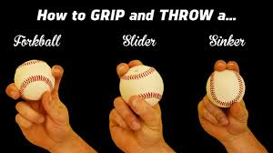 3 Pitching Grips How To Throw The Sinker Slider And Forkball