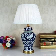 inspirational white ceramic table lamp for blue white art porcelain ceramic table lamp bedroom living room