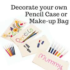Decorate Pencil Case Pencil Case To Decorate Make Up Bag To Decorate Natural Cotton Bag
