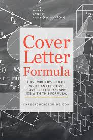 Architect Cover Letterhow To Write A Successful Cover Letter Mesmerizing Cover Letter Writing Formula Beat Writer's Block With This Formula