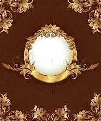 gold frame border vector. Unique Gold Gold Frame With Ornamental Border Vector Inside Frame Border Vector L