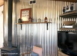 photo 1 of 6 how to install a diy corrugated metal wall treatment the weekend country girl featured on