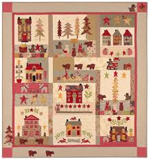 Christmas Quilt Patterns Mesmerizing A Woodland Christmas Applique Quilts Patterns