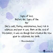 Signs Of Love Before The Quotes Writings By Poovendhiran