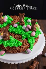 Easter Bunny Rice Krispie Cake Annies Noms
