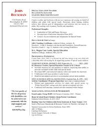 Sample Education Resume Book ReportsReview Ideas Pinterest special needs educator 32