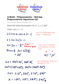 a math trigonometry solving trigonometric equations exam question 2016