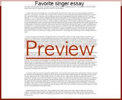 favorite singer essay coursework writing service favorite singer essay · check out our top essays on my favorite singer to