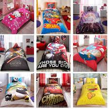 details about original kids cartoons 100 cotton single twin bedding duvet cover set 3 pcs