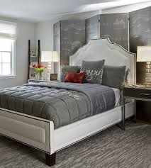 gray and red bedroom. view in gallery a dash of red is all your gray bedroom needs at times! [design: and