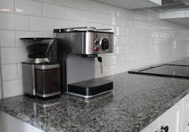 Caledonia Granite Kitchen Caledonia Granite Subway Tile Backsplash Kitchen Cuisinart