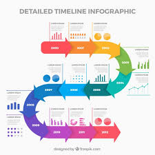 Timeline Template Business Timeline Template With Infographic Style Vector Free Download