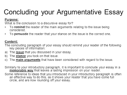 structuring your essay ppt concluding your argumentative essay