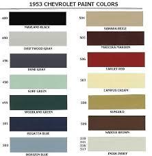 1953 Chevrolet Body Colors 1953 Classic Chevrolet